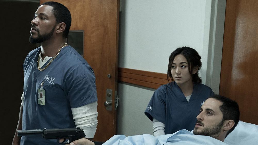 Laz Alonso as Mother's Milk, Karen Fukuhara as Kimiko Miyashiro, and Tomer Kapon as Frenchie on The Boys