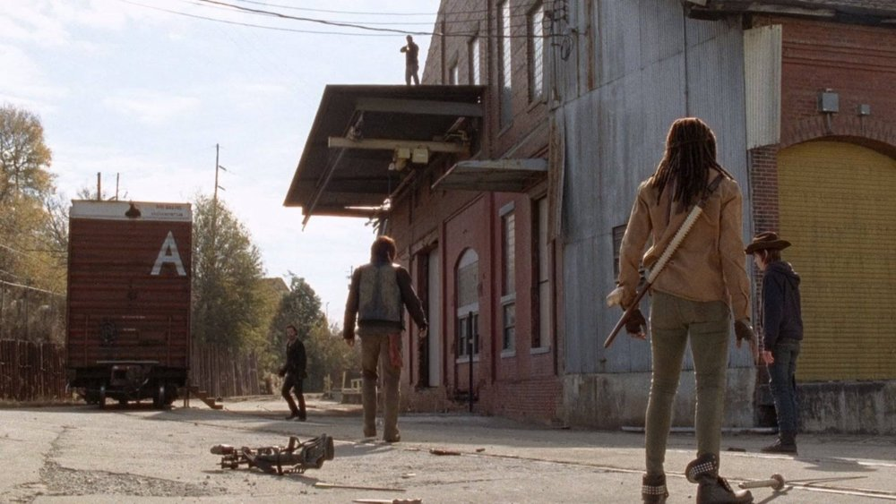 """The letter """"A"""" pops up repeatedly throughout The Walking Dead series"""