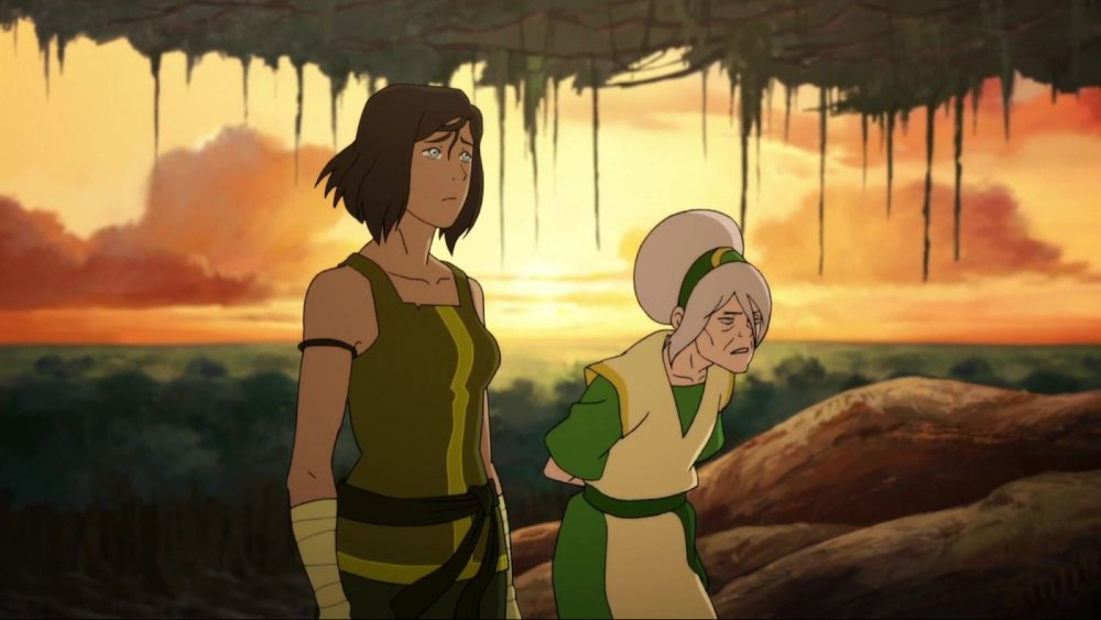 Korra and Toph Beifong in The Legend of Korra