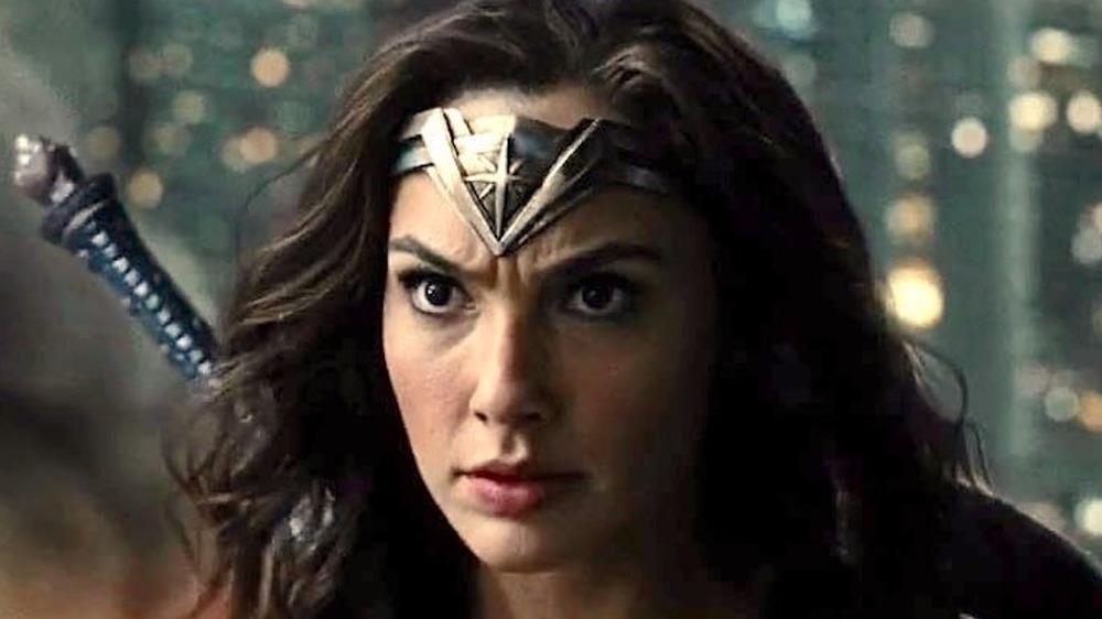 Wonder Woman preparing for battle