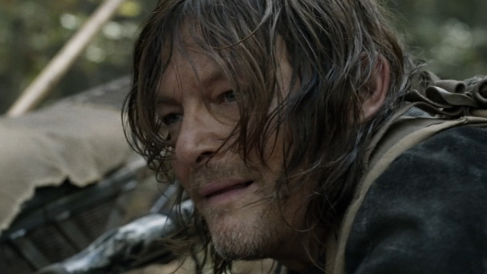 Daryl with hair in face