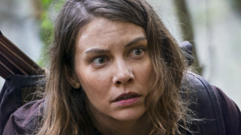 Maggie looking scared The Walking Dead