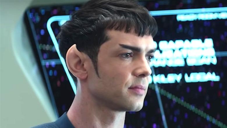 Spock sporting sideburns