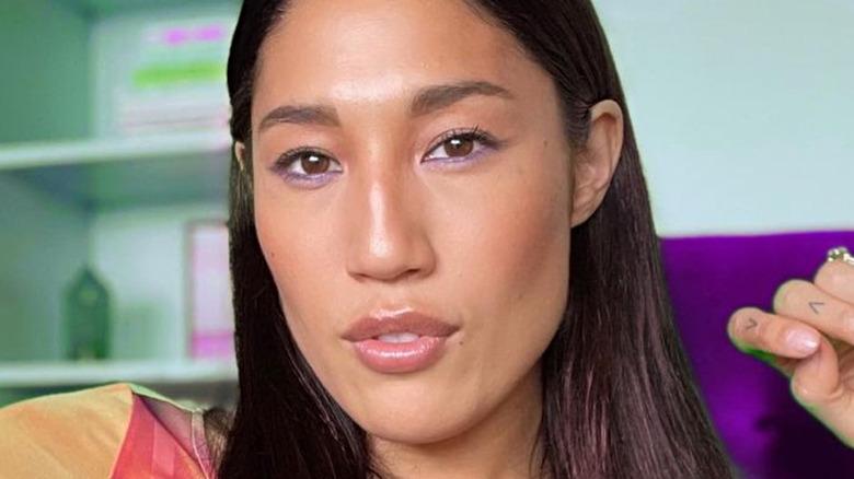 Jennifer Cheon Garcia purple eyeshadow