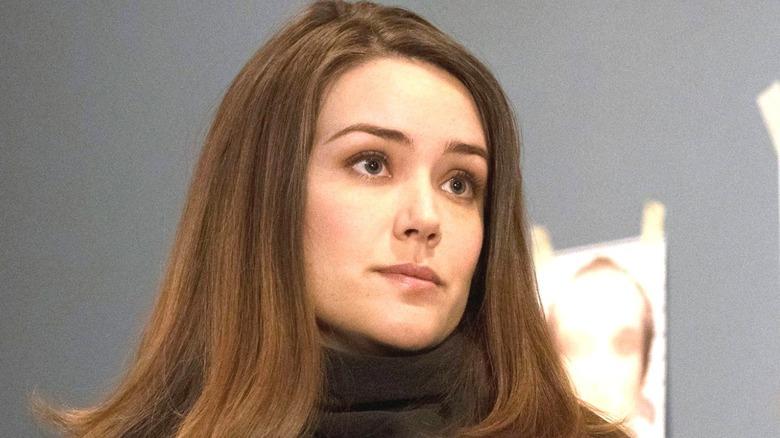 Megan Boone wearing a turtleneck