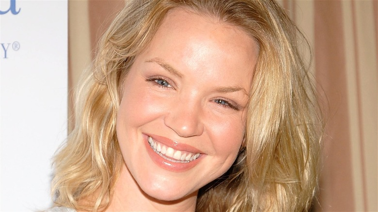 Ashley Scott smiling