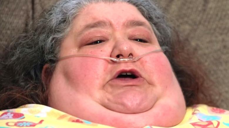 Joyce Del Viscovo in bed on My 600-lb life