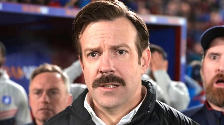 Ted Lasso looking worried