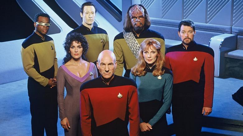The cast of Star Trek: TNG