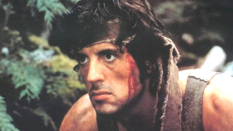 John Rambo looking in First Blood