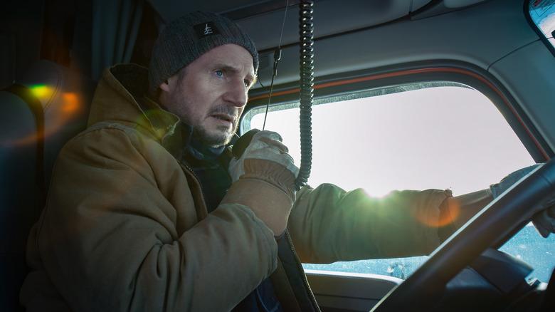 Liam Neeson Mike McCann truck radio