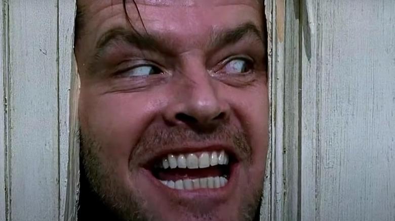 Jack Nicholson grins wolfishly in The Shining