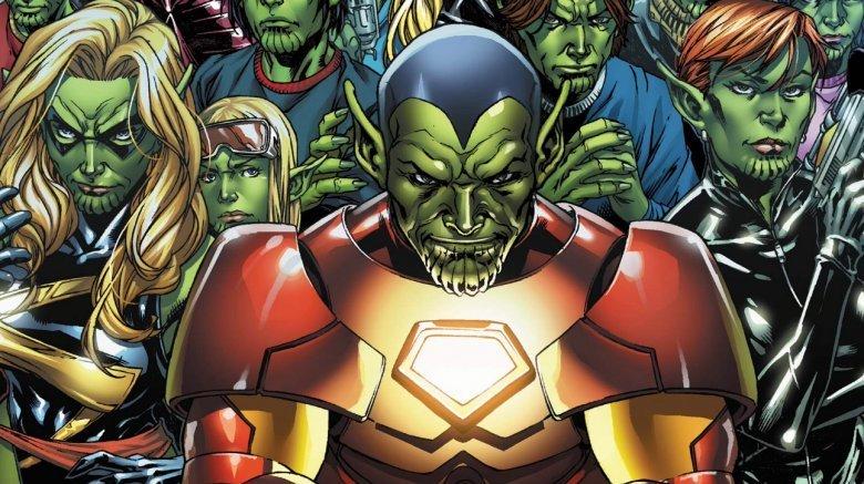 Skrulls disguised as Marvel superheroes