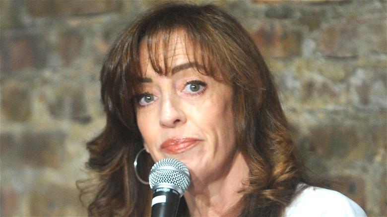 Eleanor Kerrigan performing stand-up comedy