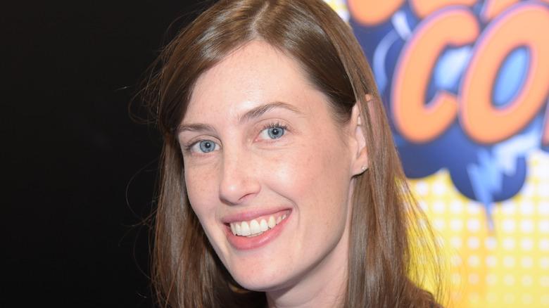 Sarah Hagan at comic convention