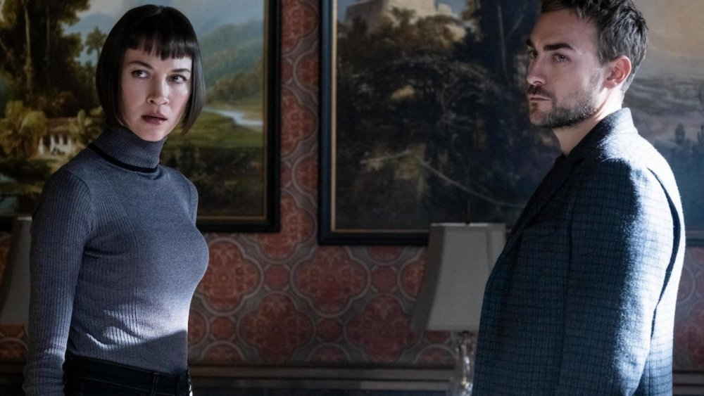 Sydny Lemmon as Ana Helstrom and Tom Austen as Daimon Helstrom on Marvel's Helstrom
