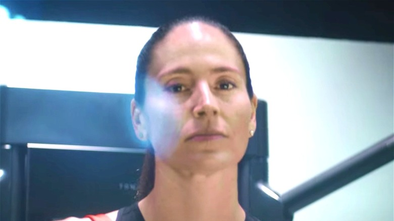 Sue Bird in Tonal's June 2021 commercial
