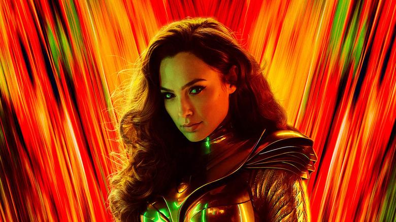 Wonder Woman wearing golden armor