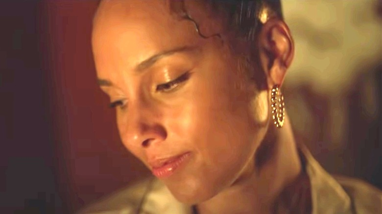 Alicia Keys looking down
