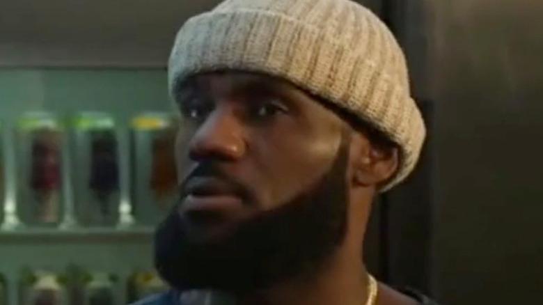 LeBron James pondering