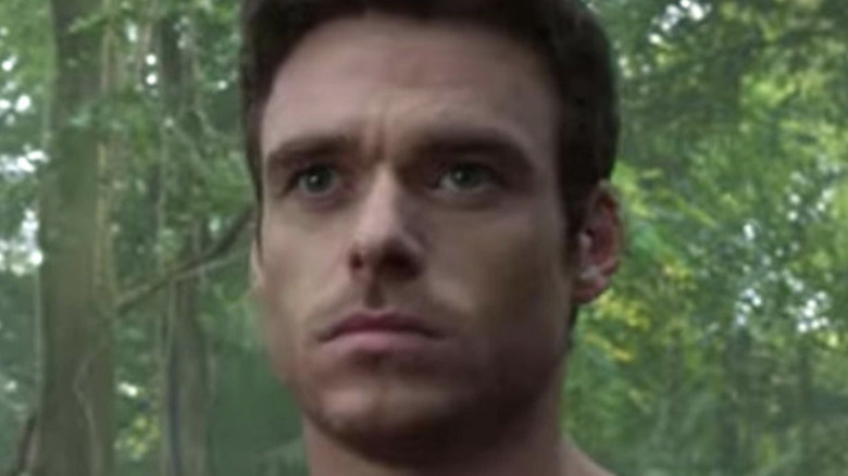 """Gemma Chan as Sersi and Richard Madden as Ikaris in the upcoming Marvel film """"Eternals."""""""