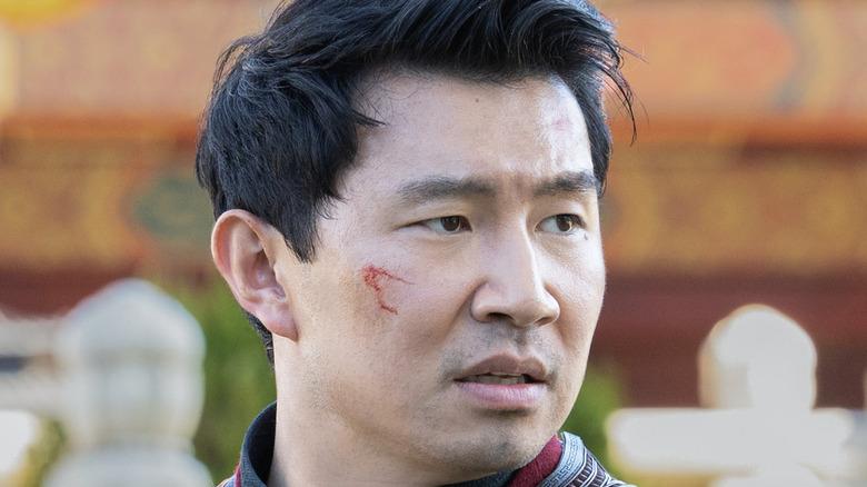 Shang-Chi Simu Liu bloody cheek
