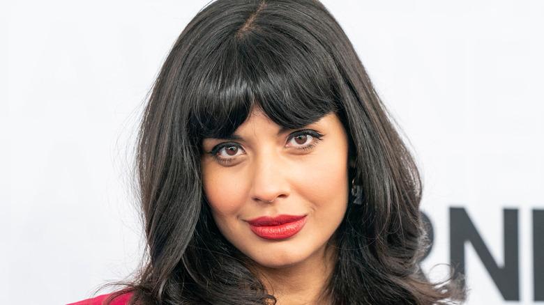 Jameela Jamil looks into camera