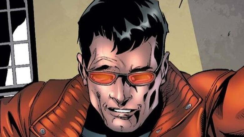 Wonder Man wearing glasses