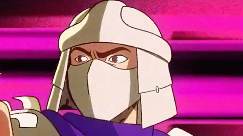Shredder glares