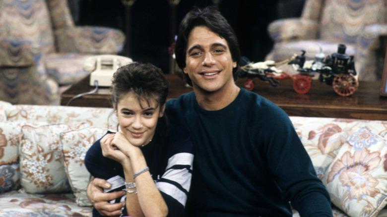 Alyssa Milano and Tony Danza in Who's the Boss?