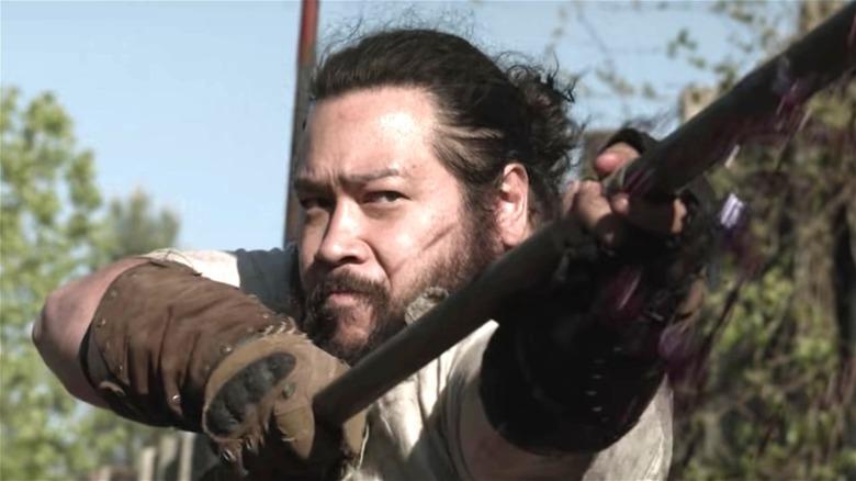 'Walking Dead' Season 11 knight holding spear