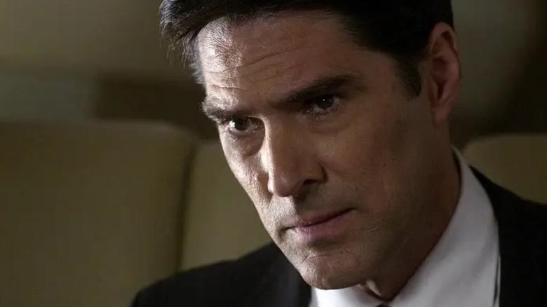 Agent Hotchner looking skeptical