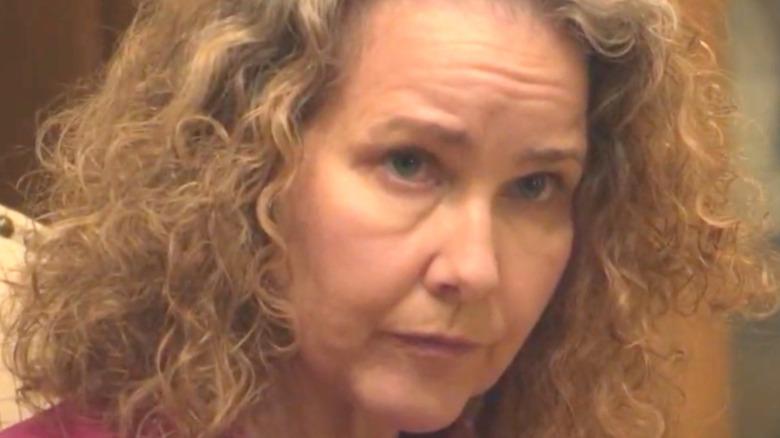 Molly Hagan stares intensely