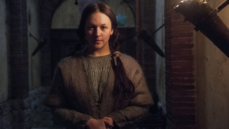 Eliza Butterworth as Aelswith on The Last Kingdom
