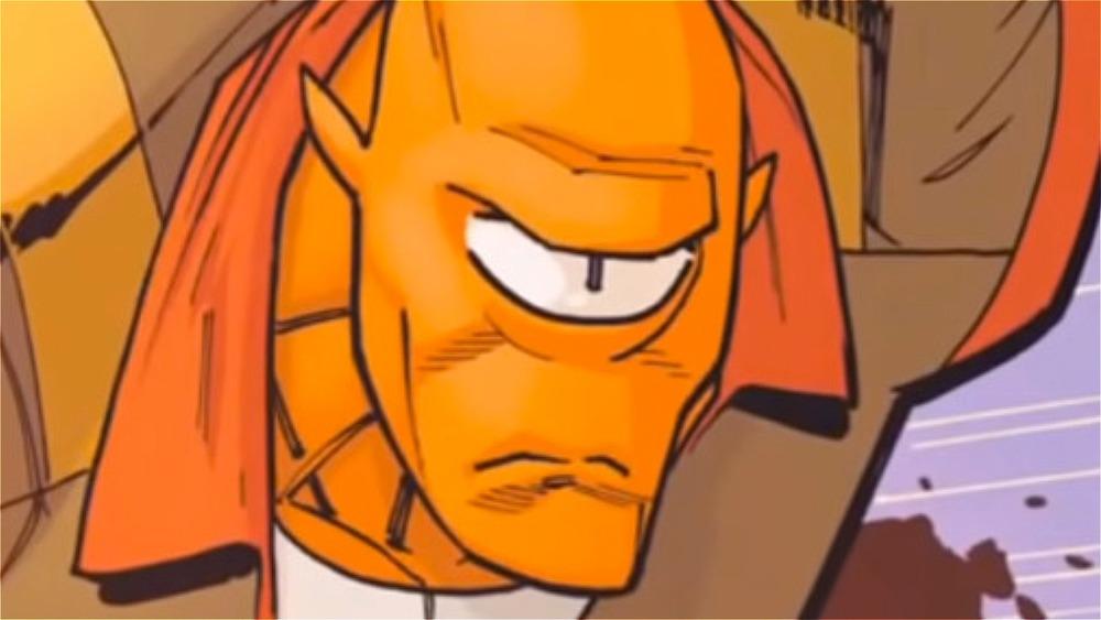 Allen punching comics panel