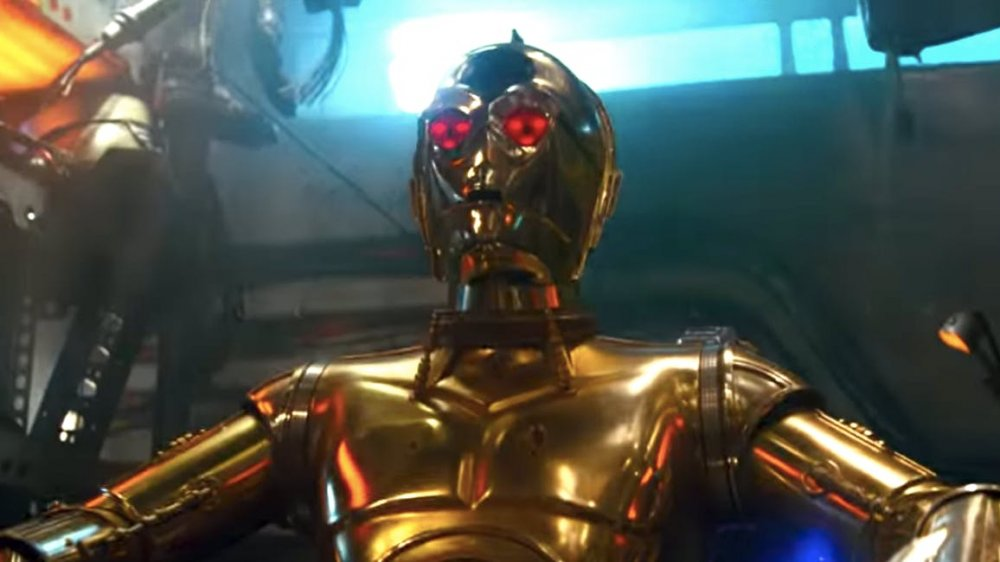 Anthony Daniels' C-3PO in Star Wars: The Rise of Skywalker