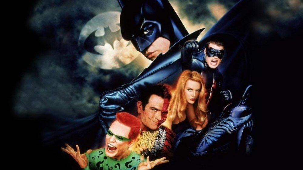 Original poster art for Batman Forever