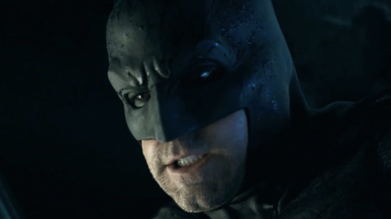 Batman grimaces in close-up