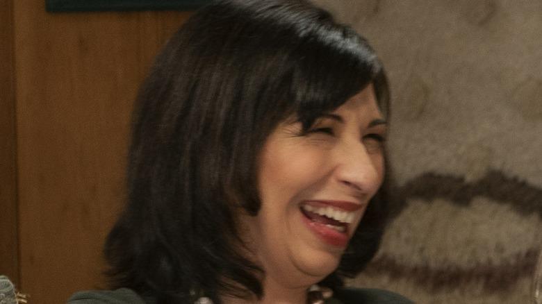 Bev laughing