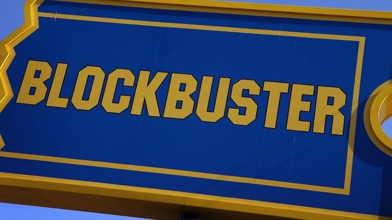 Old school Blockbuster Video sign