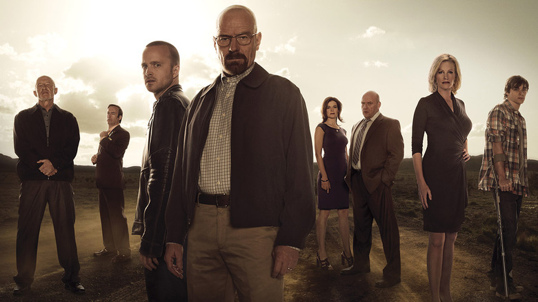 The cast of Breaking Bad in an AMC promo photo