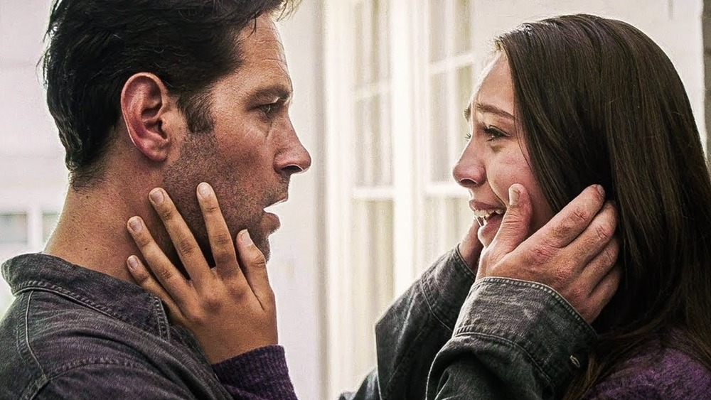 Paul Rudd as Scott Lang/Ant-Man and Emma Fuhrmann as Cassie Lang in Avengers: Endgame