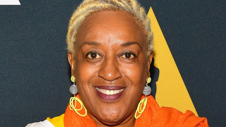CCH Pounder smiles on the red carpet