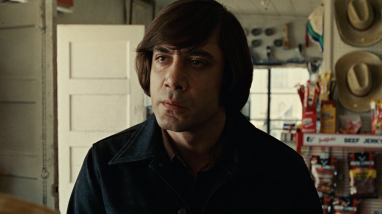Javier Bardem as Anton Chigurh in 'No Country for Old Men'