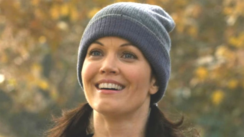 Bellamy Young Beth Clemmons smiling beanie