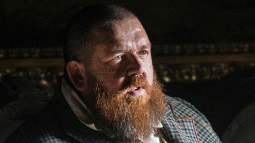 Nick Frost Declan sitting beard
