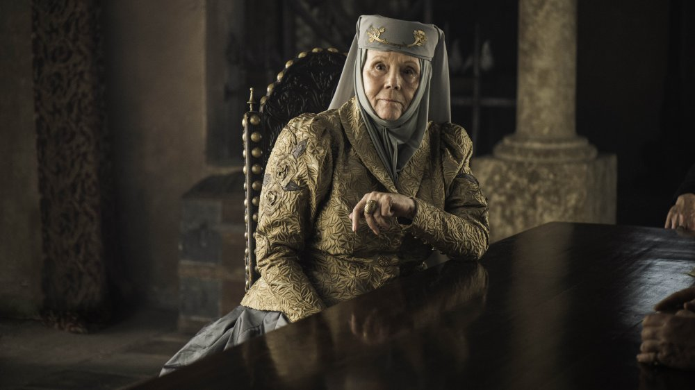 Diana Rigg as Olenna Tyrell on Game of Thrones