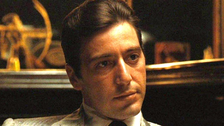 Michael Corleone expressionless