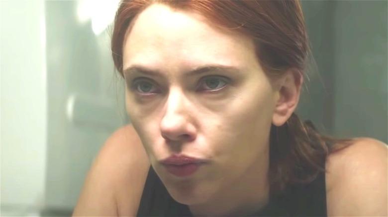 Scarlett Johansson stares in Black Widow