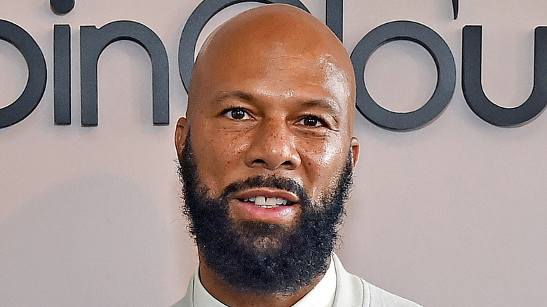 Common smiling at event